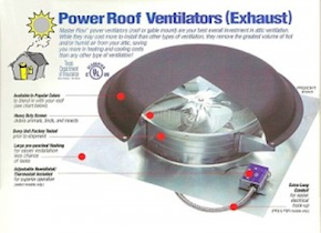 Powered Attic Ventilators